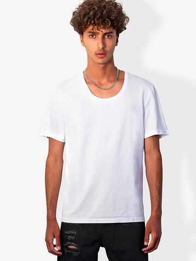 Vonberg Streetwear Oliver Premium Tee Scoop in White