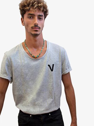 Vonberg Streetwear Oliver Heritage Premium Tee Scoop in Grey