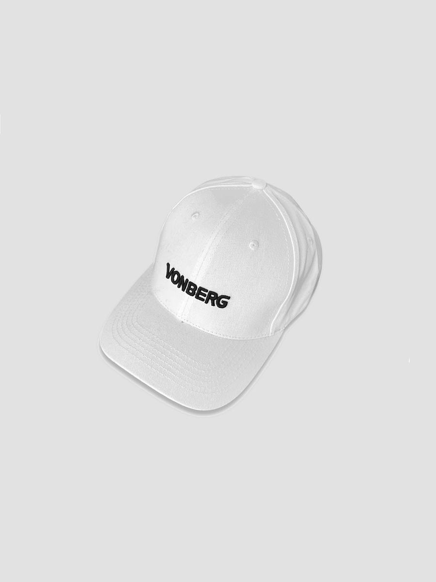 Vonberg premium baseball logo cap in white color