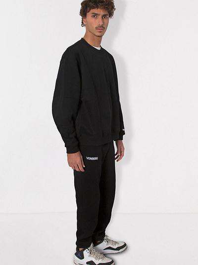 Vonberg Streetwear Signature Premium Sweatpants in Black