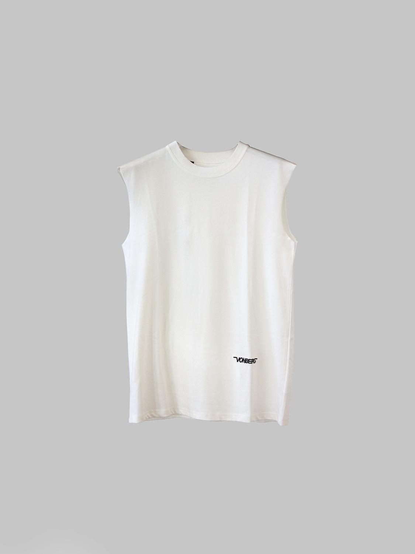 vonberg streetwear the bat tee - premium sleeveless tee in white
