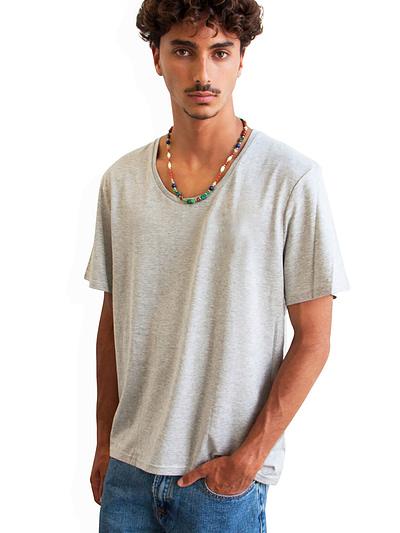 Vonberg Streetwear Oliver Premium Tee Scoop in Grey
