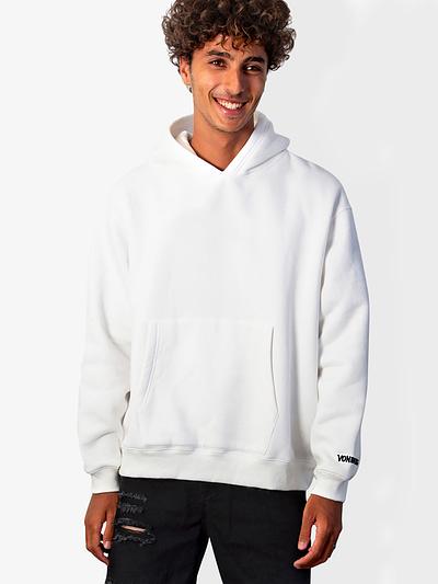 Vonberg Streetwear Signature Premium Hoodies in White
