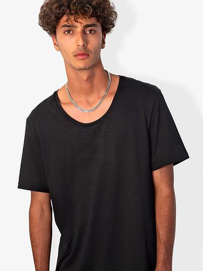 Vonberg Streetwear Oliver Premium Tee Scoop in Black