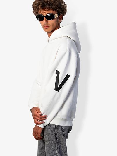V-type Hoodie in White VOnberg premium hoodies