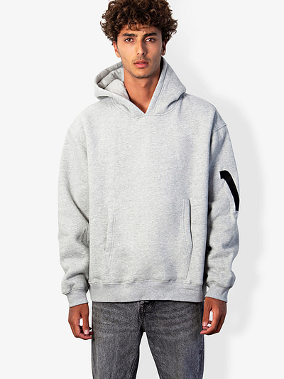 v type hoodie in grey vonberg