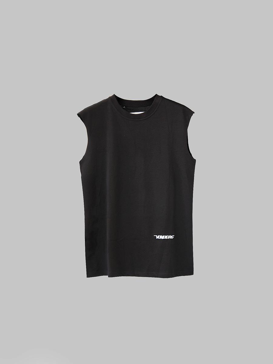 vonberg streetwear the bat tee - premium sleeveless tee in black