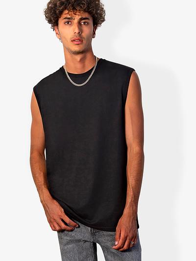 Vonberg Streetwear Lennox Sleeveless tee in Black
