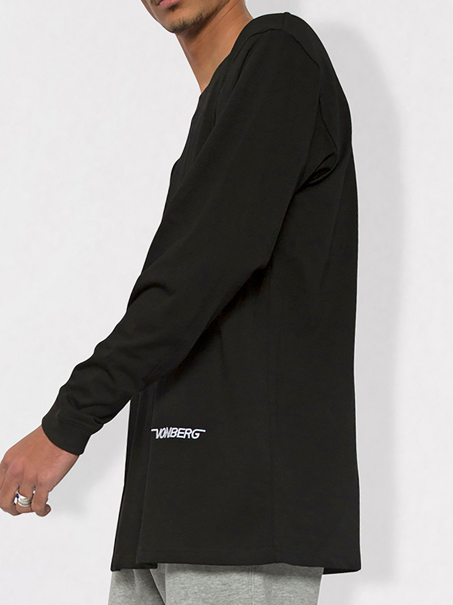 Vonberg Signature Long Sleeve Tee in black