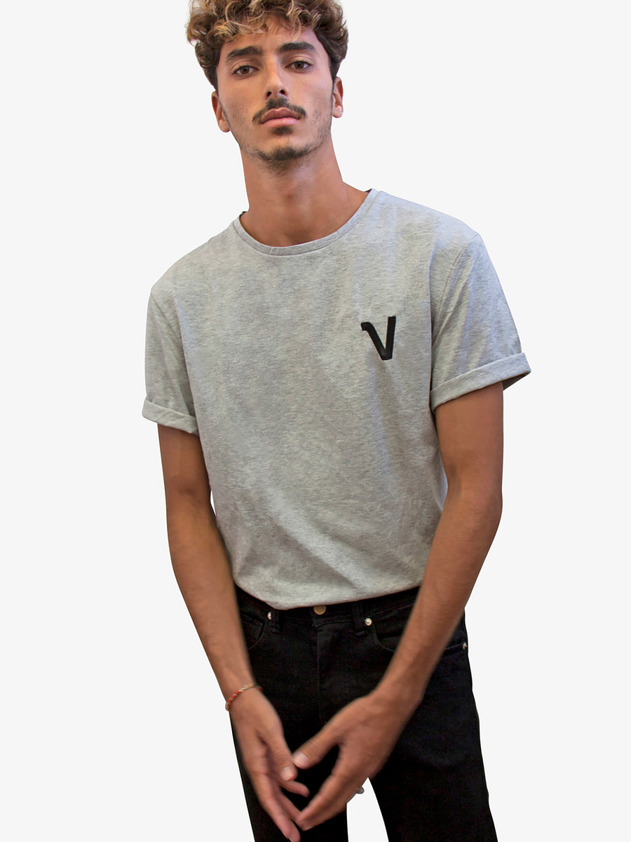 Vonberg Streetwear Brynat Heritage Premium Tee in Grey