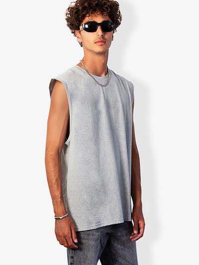 Vonberg Streetwear Lennox Sleeveless tee in Grey